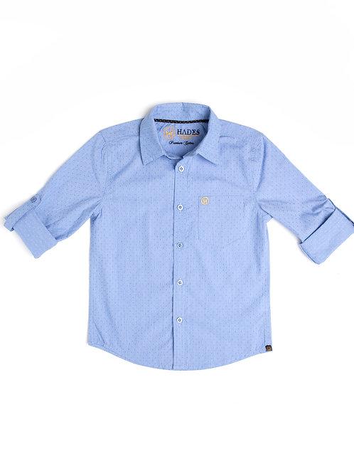 Junior Ceruvean Blue Dobby Shirt