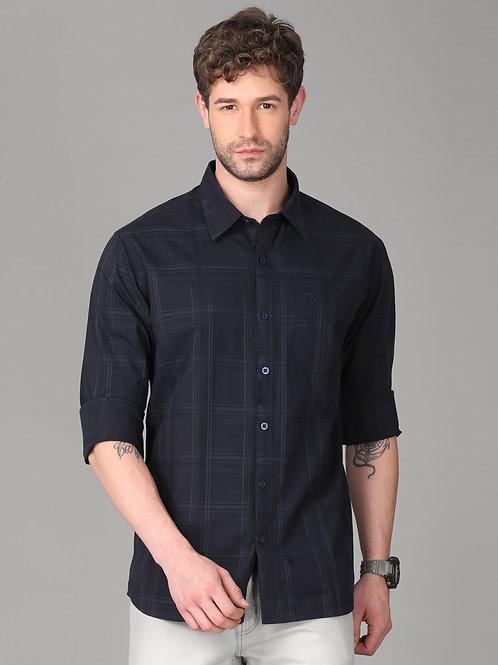 Hades Mignight Navy Tartan Plaid Shirt