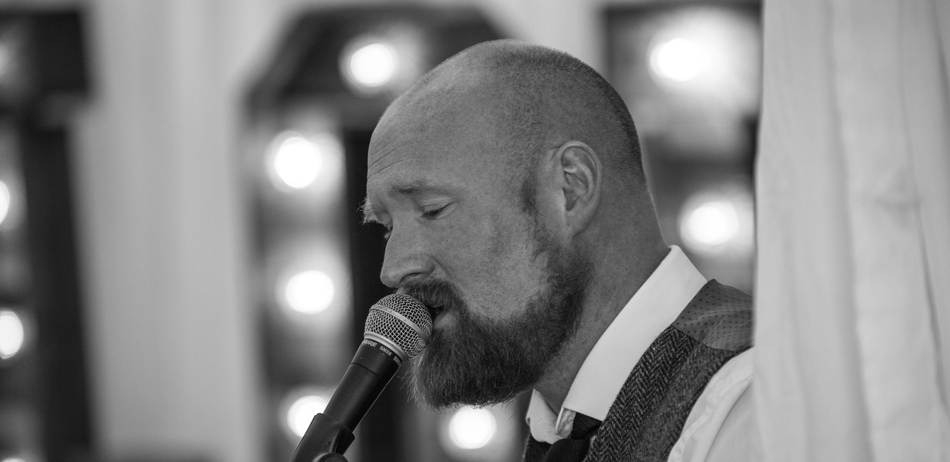 Andrew James playing at a wedding