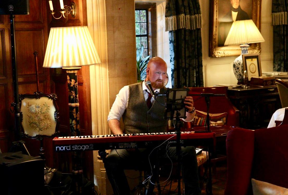 Andrew James playing at Buckand Manor