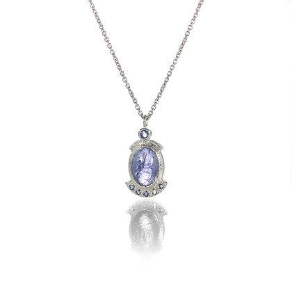 Tanzanite and Sapphire Pendant