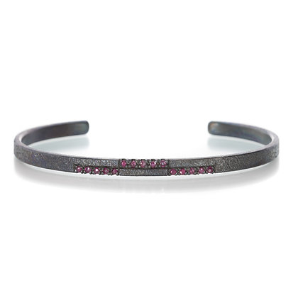Staggered Ruby Cuff