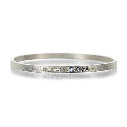 Tapered Sapphire Clasp Bracelet