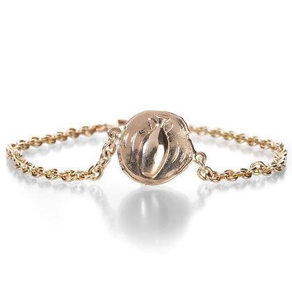 14k gold Amphora coin Bracelet