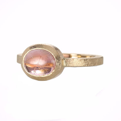 Pink Tourmaline 14K Gold Ring