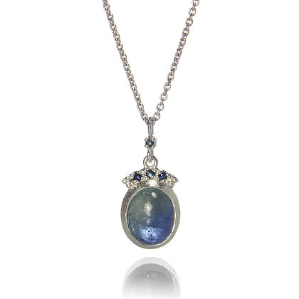 Bi-Colored Tanzanite with Sapphire Crown