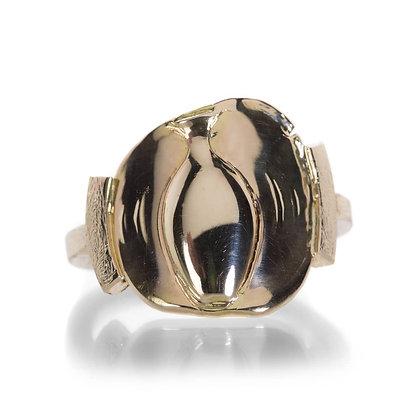 14k gold amphora coin ring