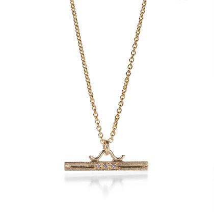 3 Diamond Bar Necklace