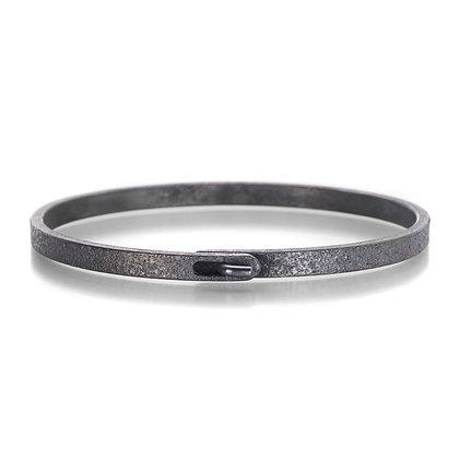 Oxidized Sterling Silver Clasp Bracelet