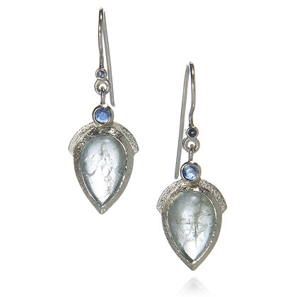 Aquamarine and Sapphire Earrings