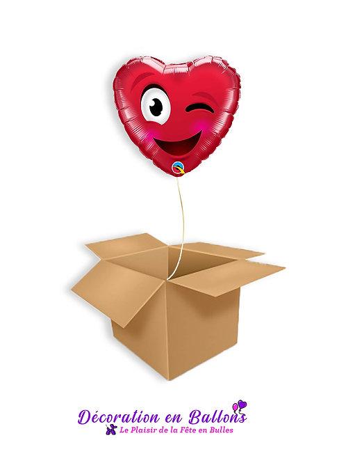 1 Ballons Smiley wink heart
