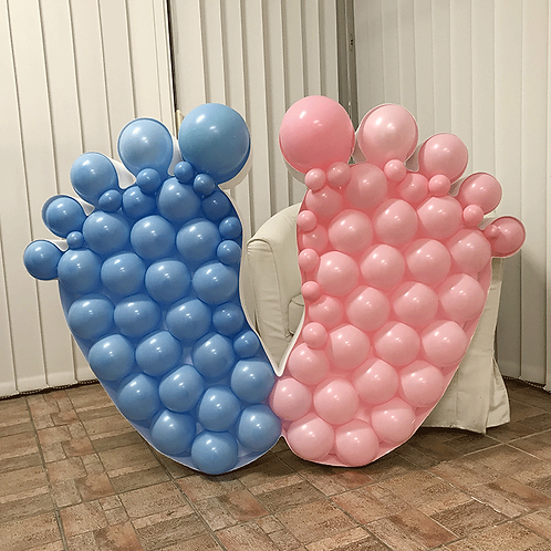 "Structure ballons ""forme pieds"""
