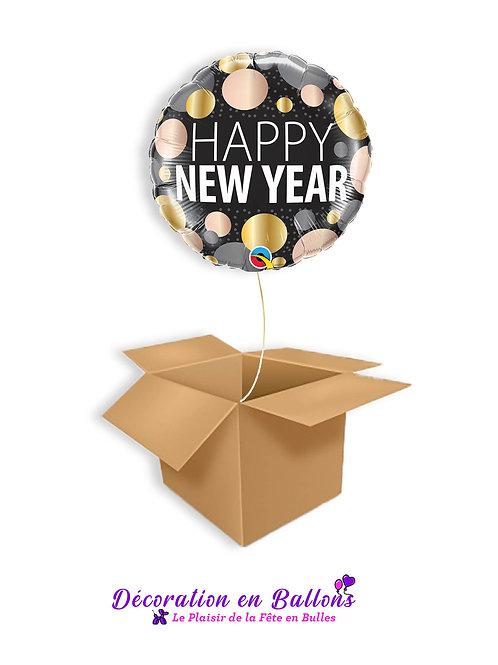 """1 Ballon """" Happy new year """"Mettallic"""