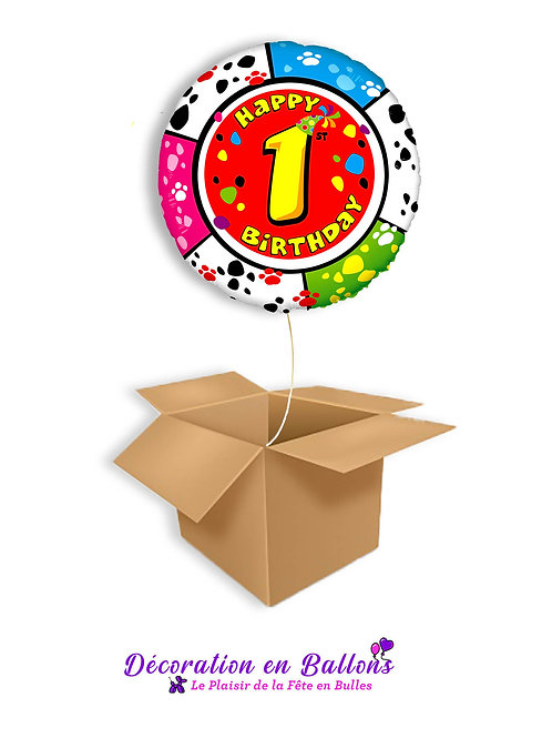 Happy birthday , chiffres animaux