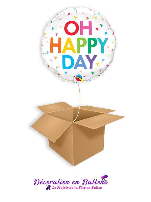 "Ballon "" oh Happy day"""