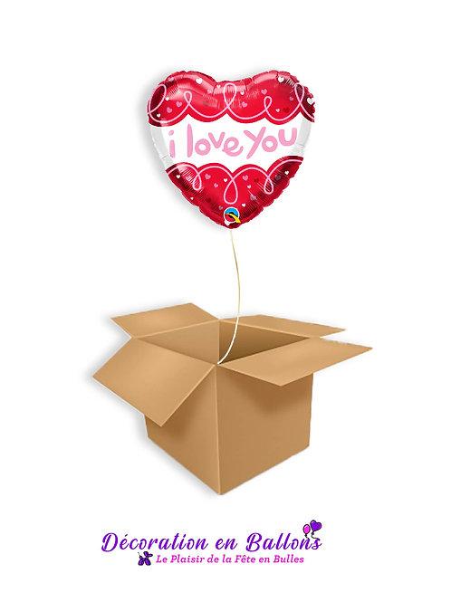 """1 Ballon """" I love you """""""
