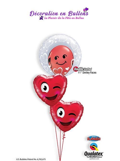 Bouquet smiley wink heart