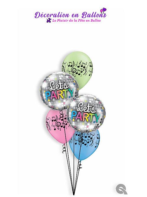 Bouquet Happy Birthday Disco