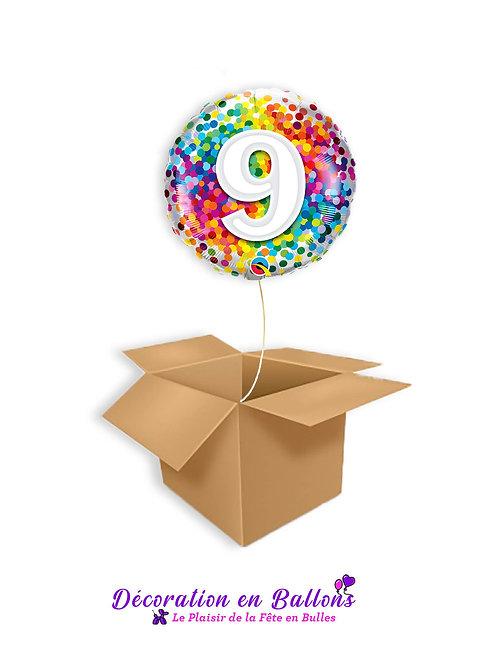Ballon 9 Confetti