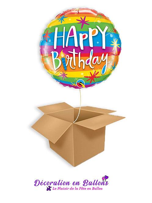 """Ballon """" Happy birthday"""" color"""