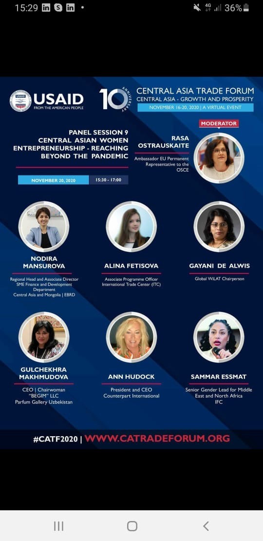 10th Central Asia Trade Forum (CATF) – Women Entrepreneurship forum