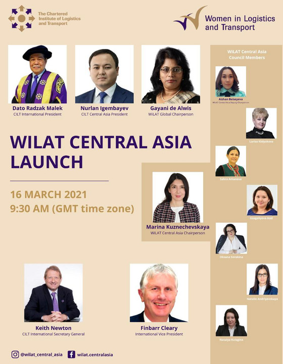 WiLAT Central Asia will launch on 16th March 2021