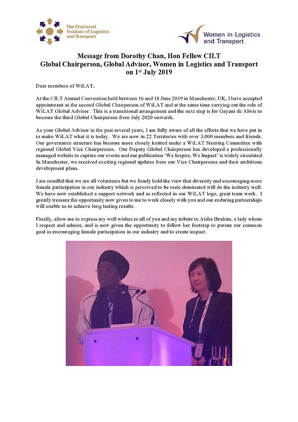 Message from Dorothy Chan 20190701-page0