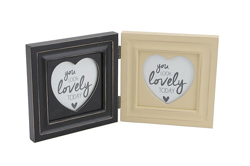 Black and Cream Heart Frame