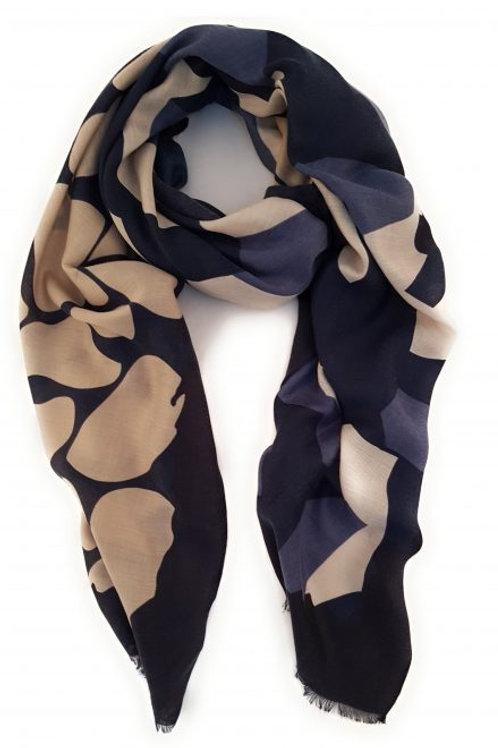 Bold geometric print scarf