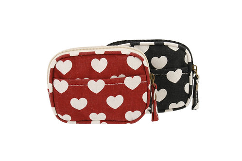 Heart print purse