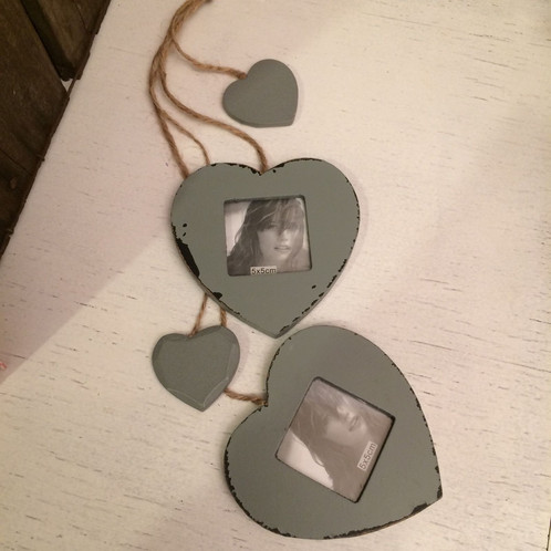 Double heart photo frame. | Hodge Podge Norwich | Jewellery, Gifts ...