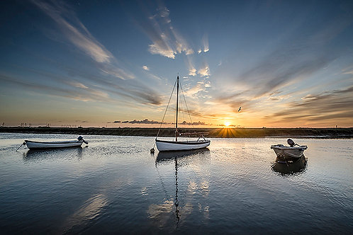 Three Boats Fine Art Giclee Prints