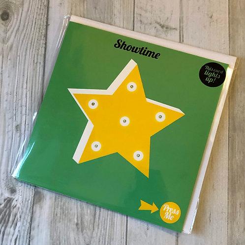 Light up star card