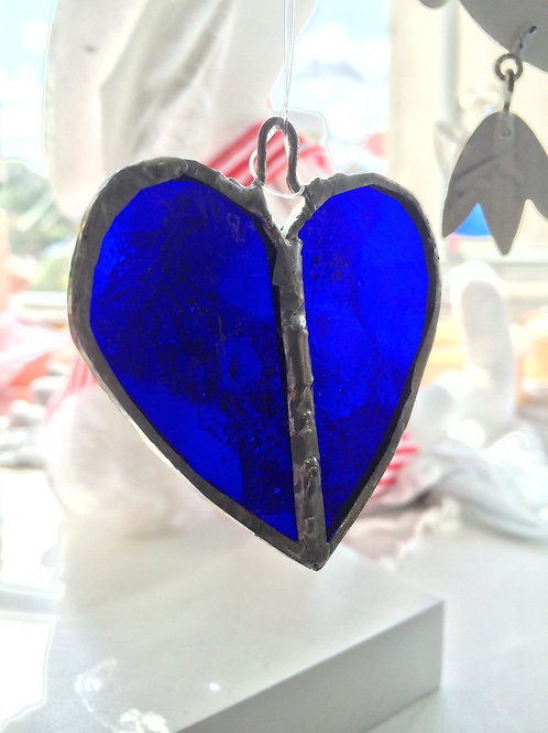 Handmade stained glass heart (small)