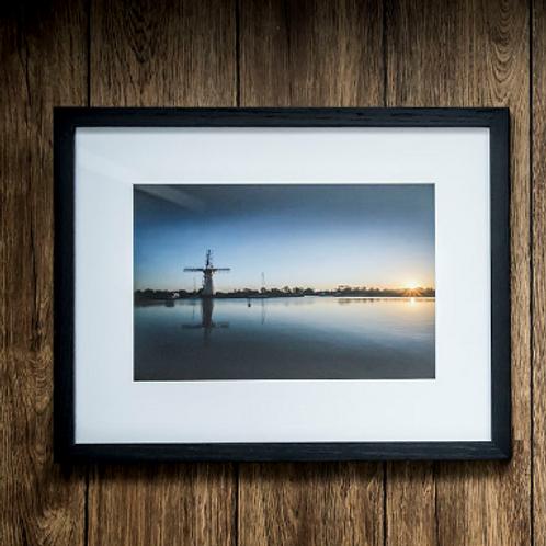 Windmill framed Fine Art Giclee Print