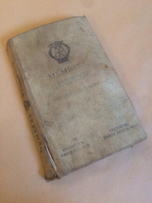 AA Members Handbook - 1949