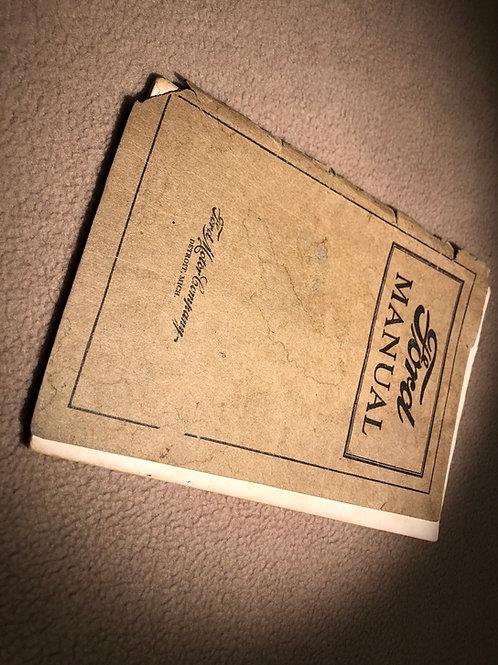 1922 USA Ford Manual