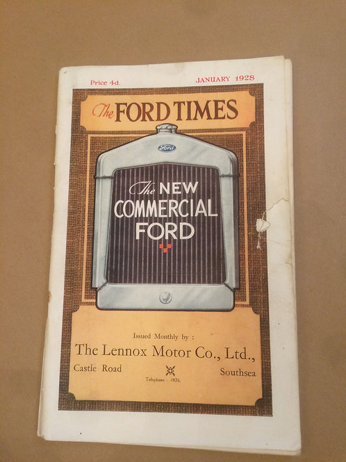 Ford Times - January 1928