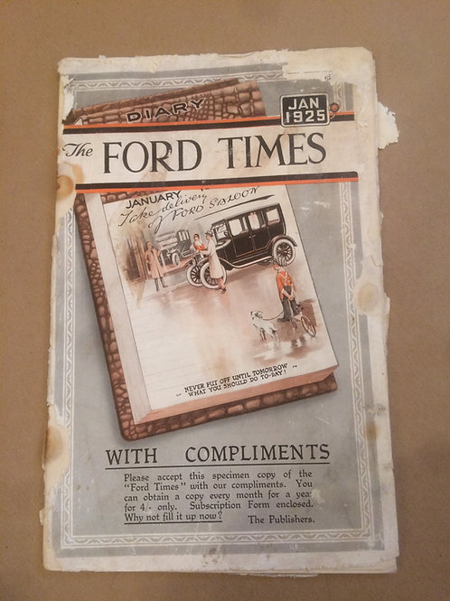 Ford Times - January 1925
