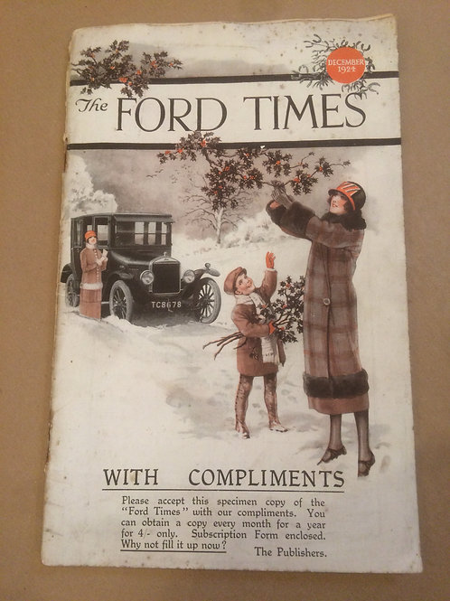 Ford Times - December 1924