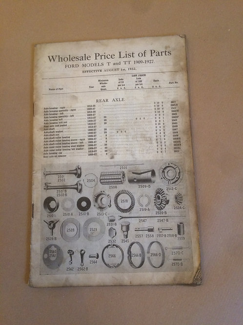 English Parts List