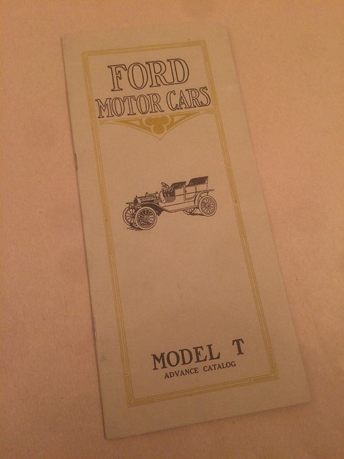 Ford Motor Cars Booklet