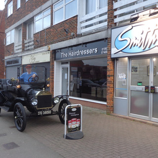At the fish & chip shop, Epping