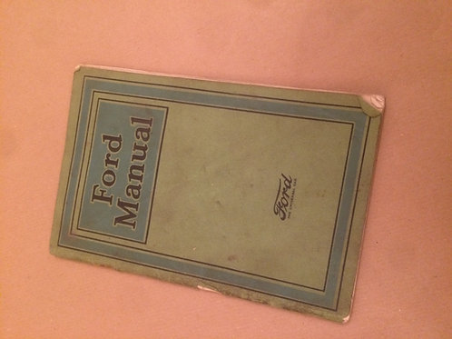 Ford Manual 1922