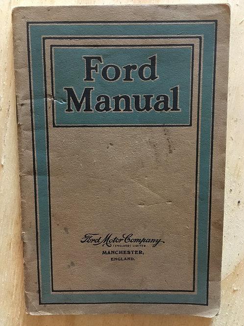 Rare Original Model T Ford Manual 1926