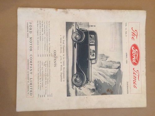Ford Times - April 1934