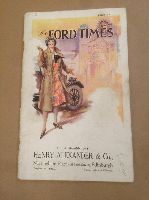 Ford Times - September 1926