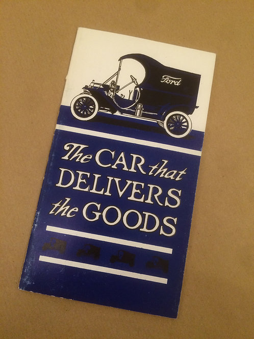 The Car That Delivers the Goods Booklet