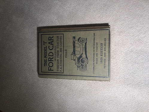 The Model T Ford Car Book