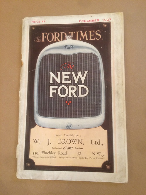 Ford Times - December 1927